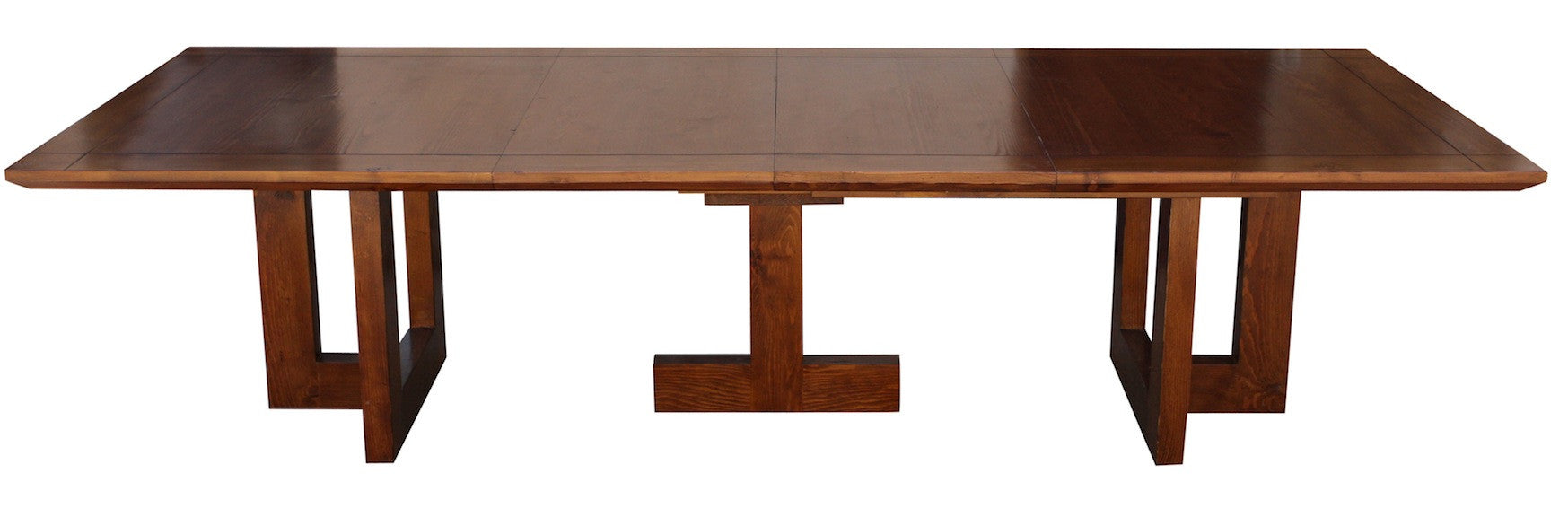 MidCentury Modern Metro Extension Trestle Dining Table Mortise