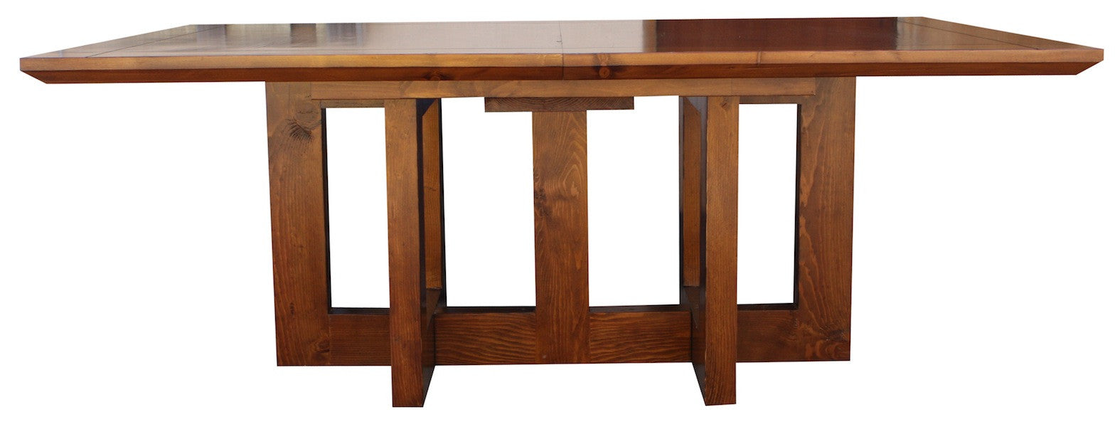 Mid-Century Modern Metro Extension Trestle Dining Table