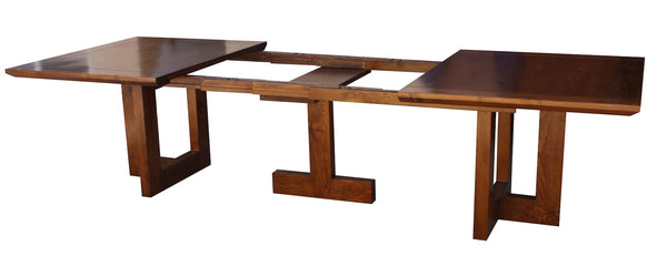 Mid Century Modern Metro Extension Trestle Dining Table