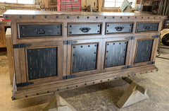 Rustic Old Wood Buffet