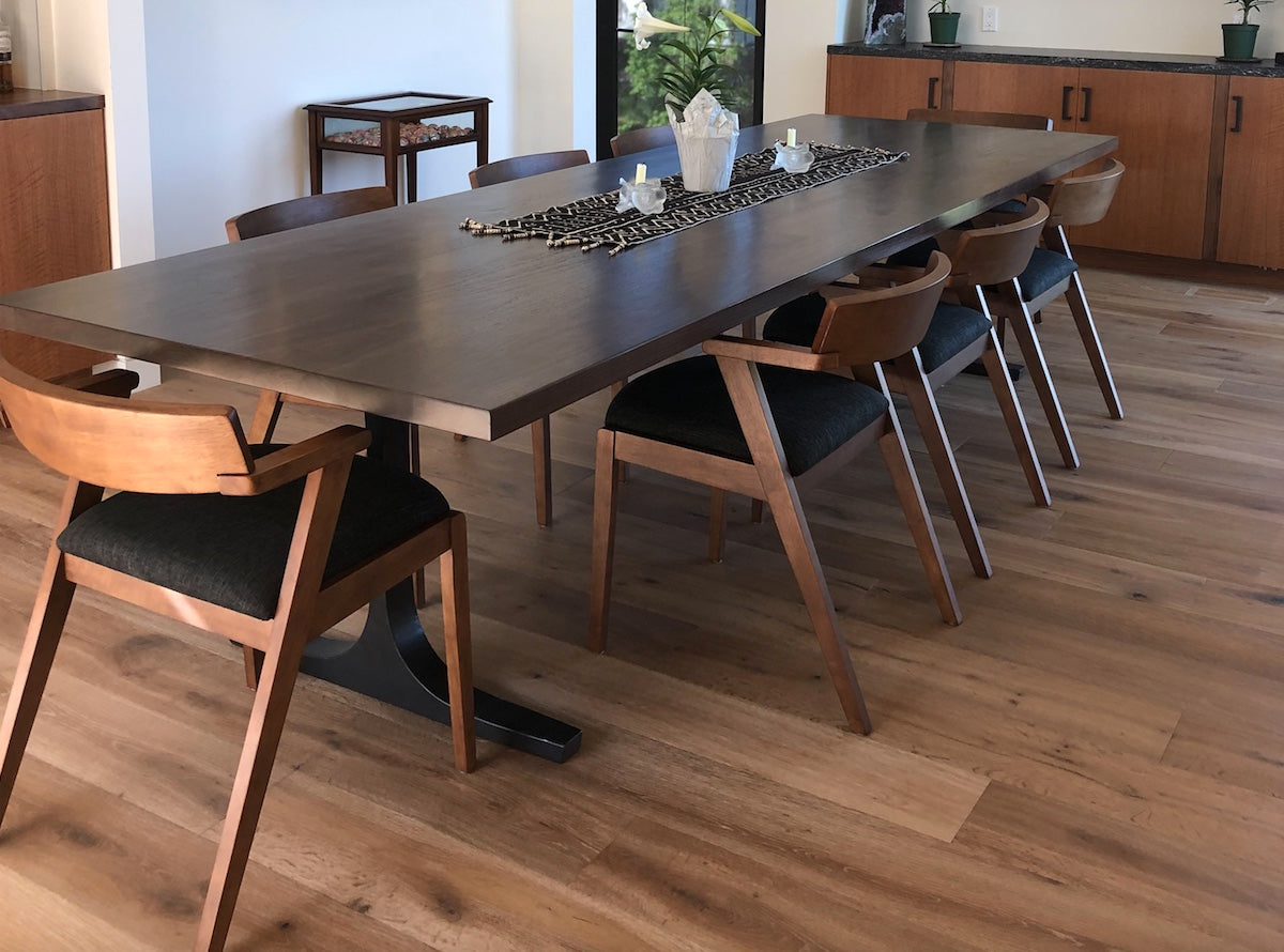 Bergen -Large Solid Walnut Top Dining Table
