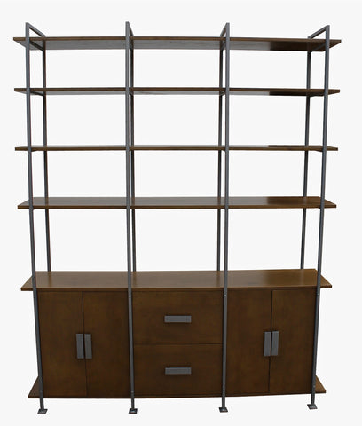 custom made mid-century-modern-bookcase-cabinet