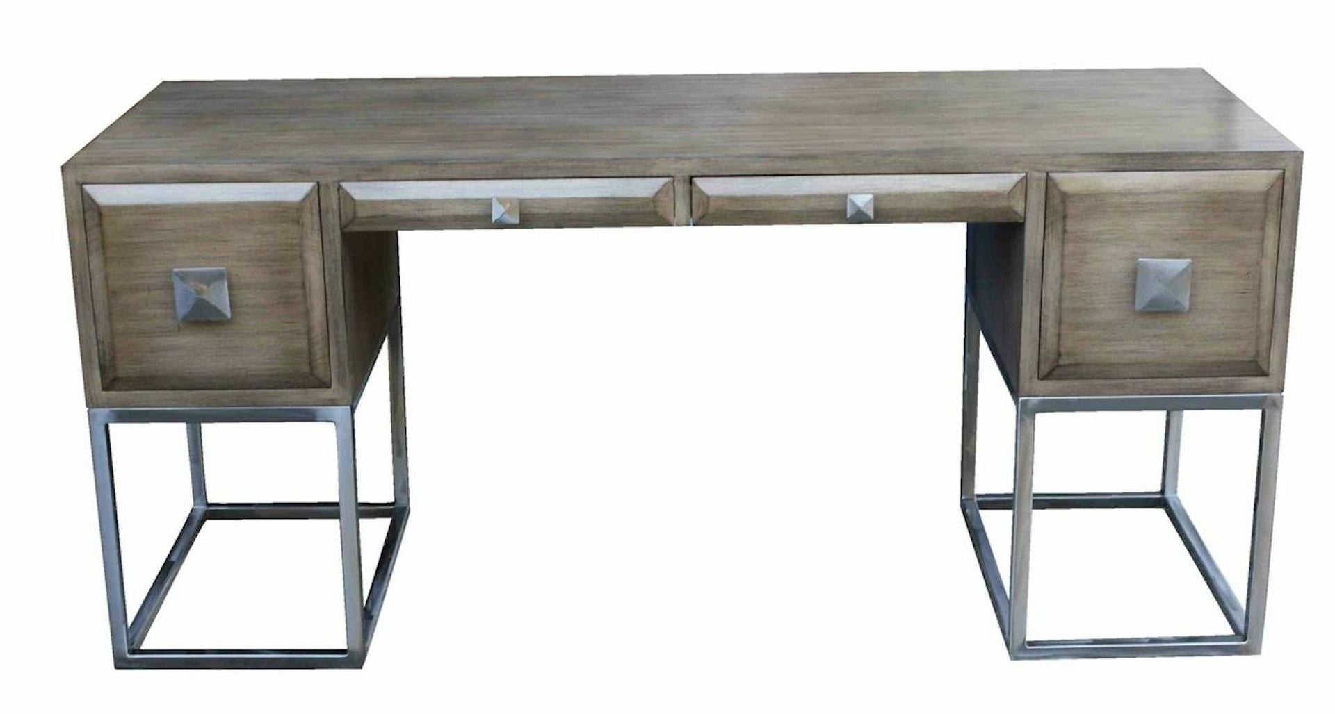 Grant Writing Desk with Custom Steel Hardware