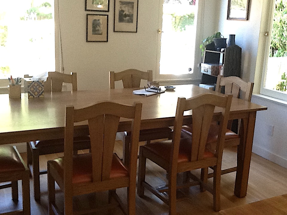 Mission Style Dining Table And Chairs Mortise Tenon