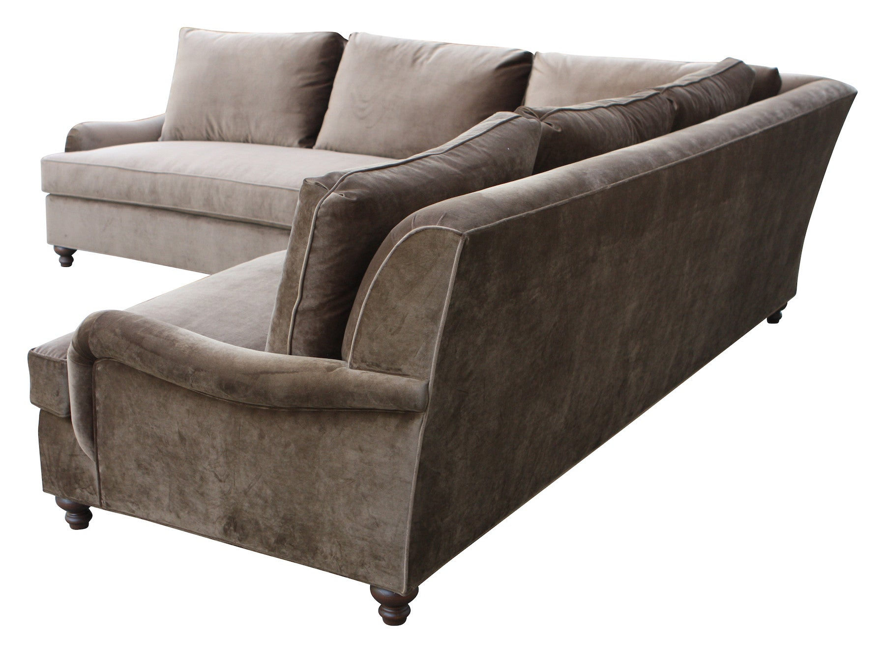 English Rolled Arm Sectional And Sofas Custom Made In Our Los Angeles Bench Made Home Furnshings Since 1989 Mortise Tenon