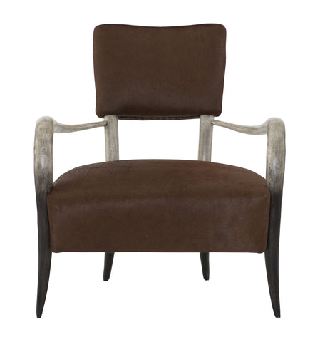Elsa Faux Horn Leather Chair