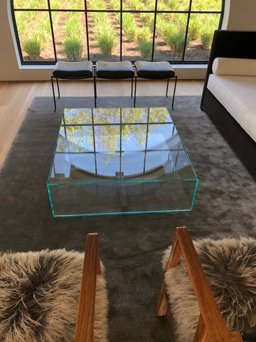 Custom Modern Glass Coffee Table