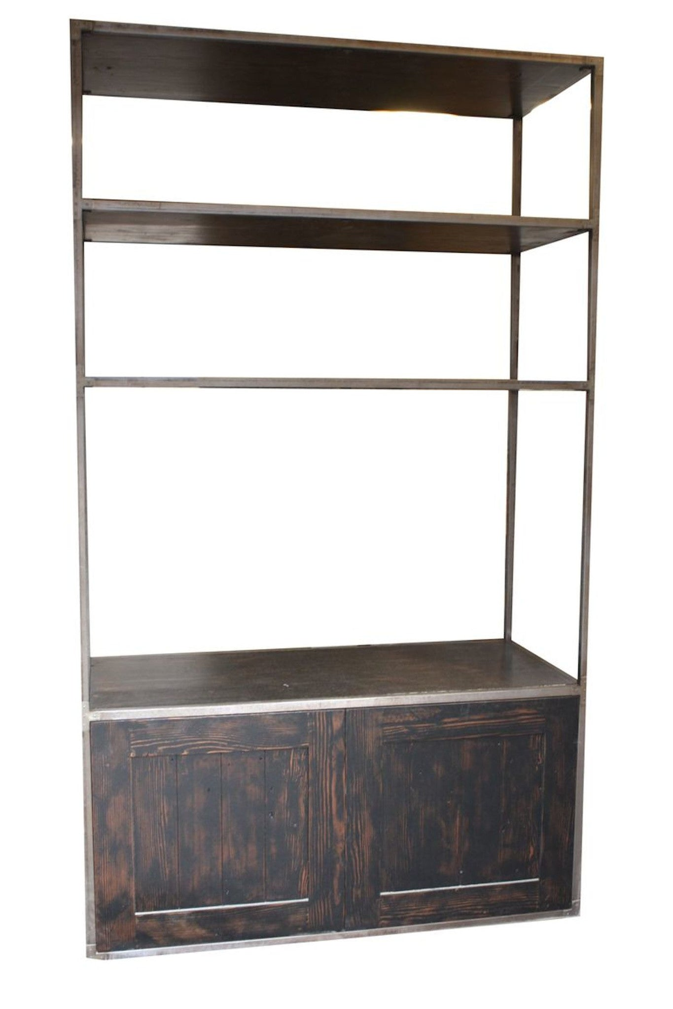 New York Metal And Reclaimed Wood Bookcase