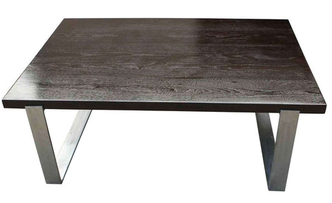 Modern Industrial Walnut Coffee Table