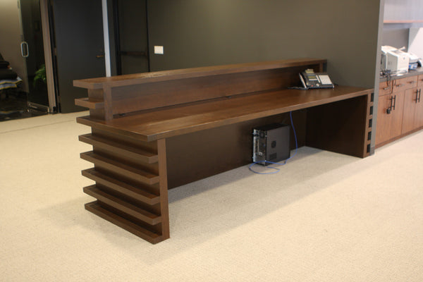 Santa Monica Mid Century Modern Reception Desk And Bench