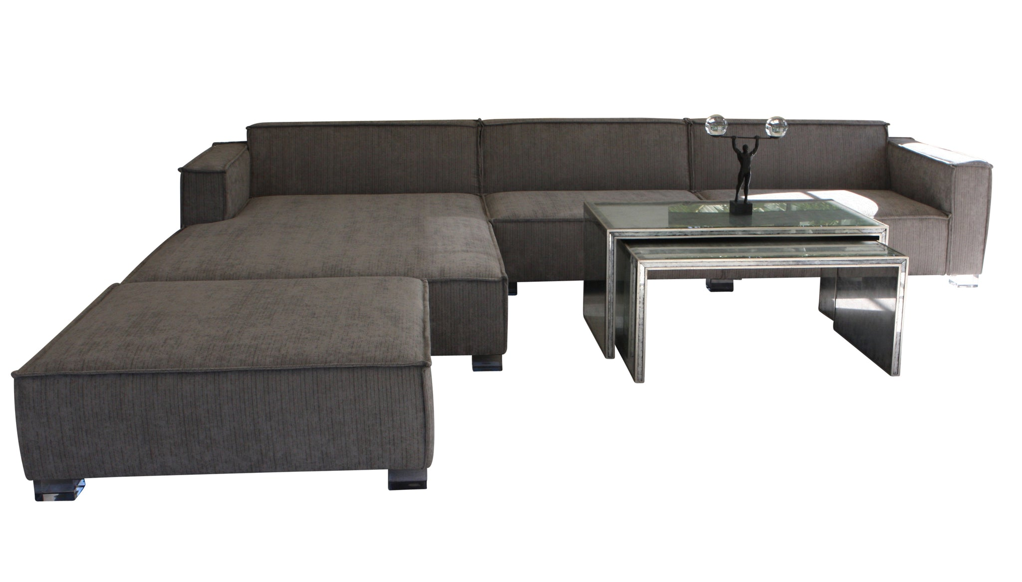 Custom Phillipe Sectional Sofa With Chaise