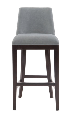 custom wood upholstered bar stool