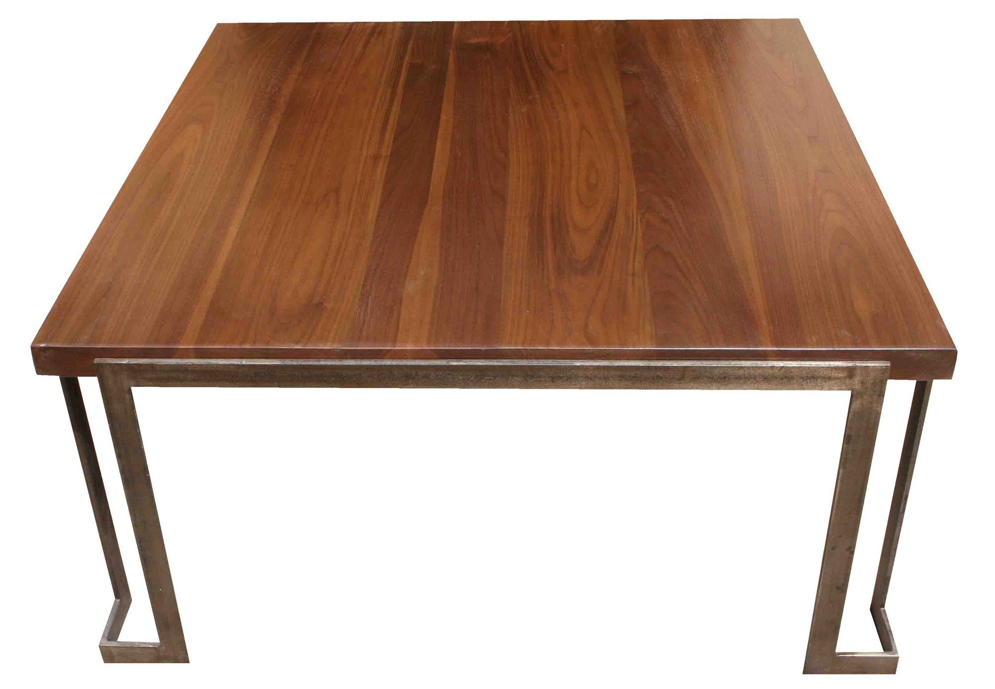 Modern Metal And Wood Coffee Table Mortise Tenon