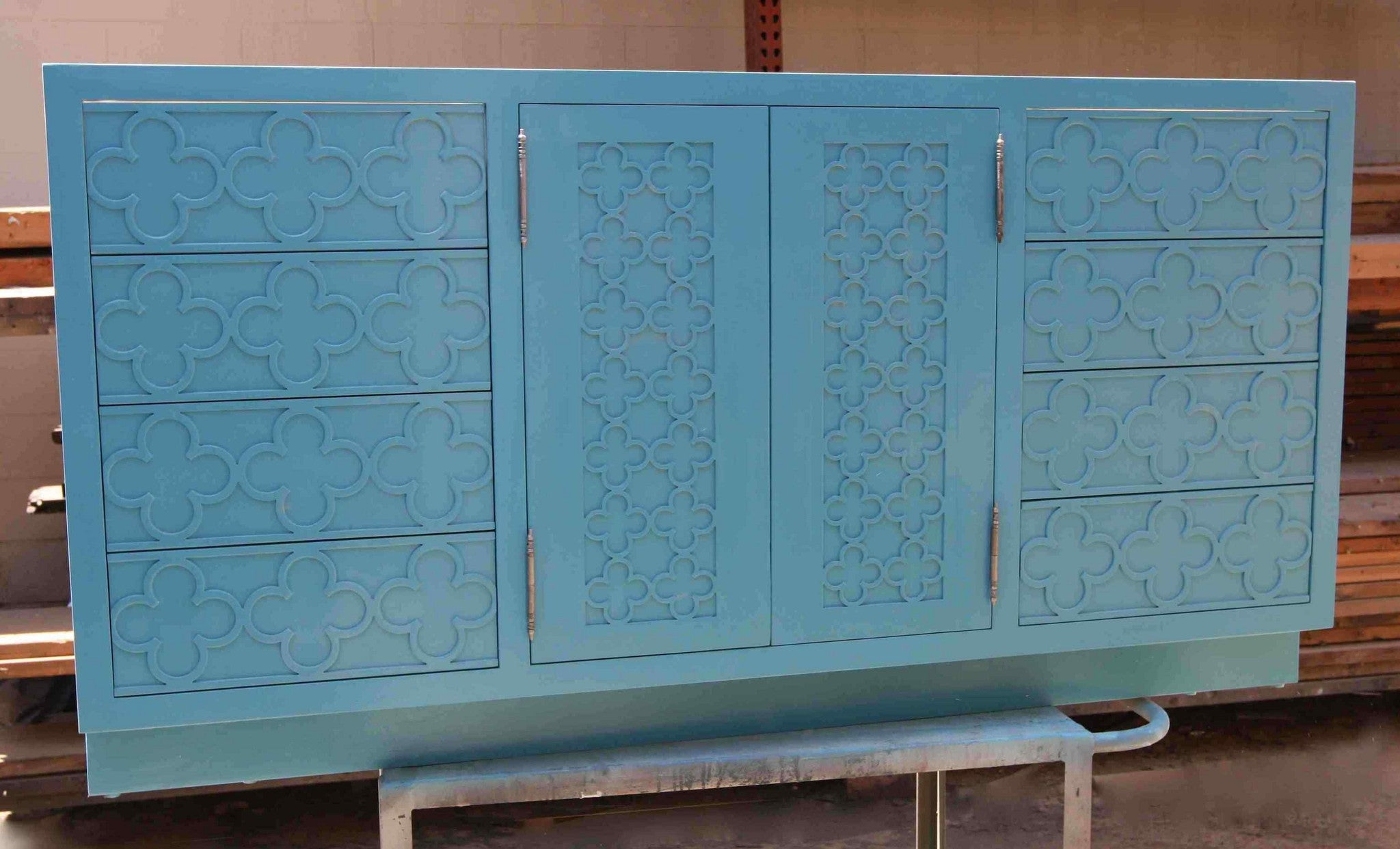 Moroccan Door Panel Bathroom Cabinet