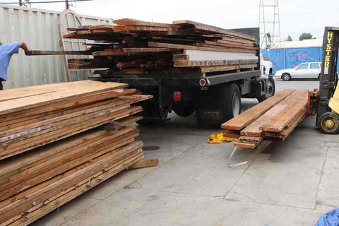 Salvaged Douglas Fir From Homes in Beverly Hills and Los Angeles