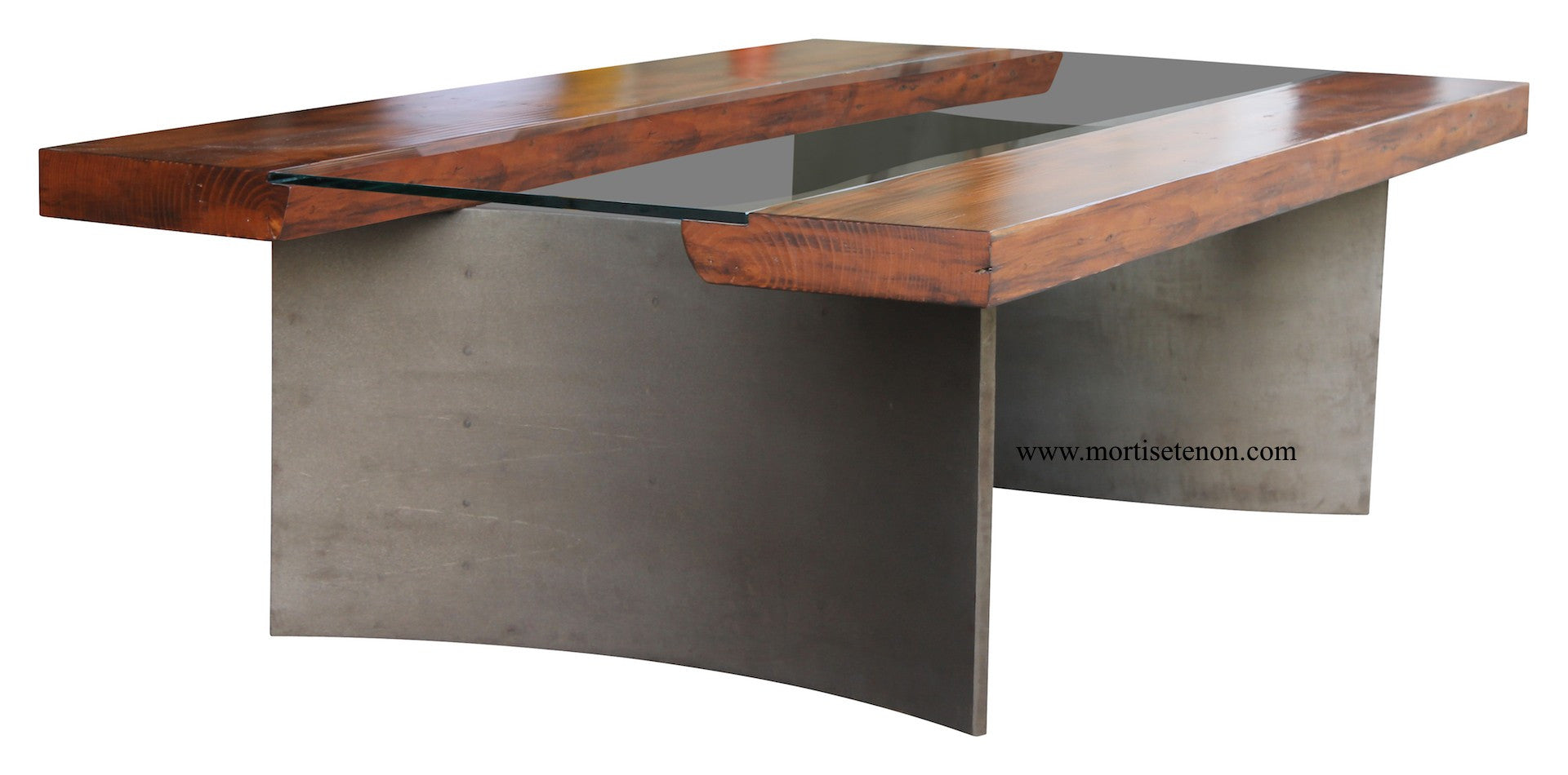 ... Reclaimed Wood Free Edge Coffee Table With Industrial Metal Legs ...