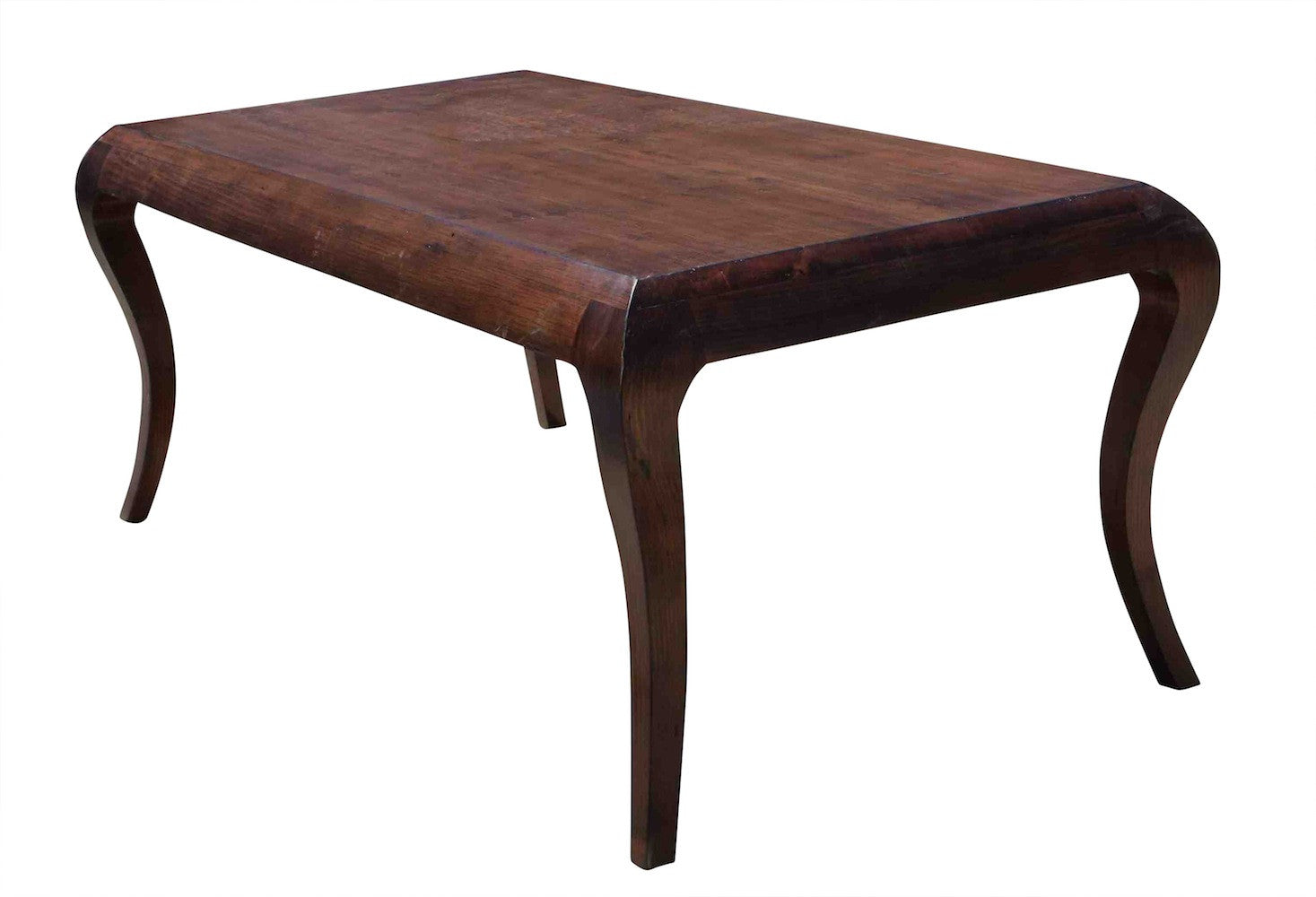 Incroyable ... Salvaged Solid Wood Mystic Cabriole Leg Dining Table ...