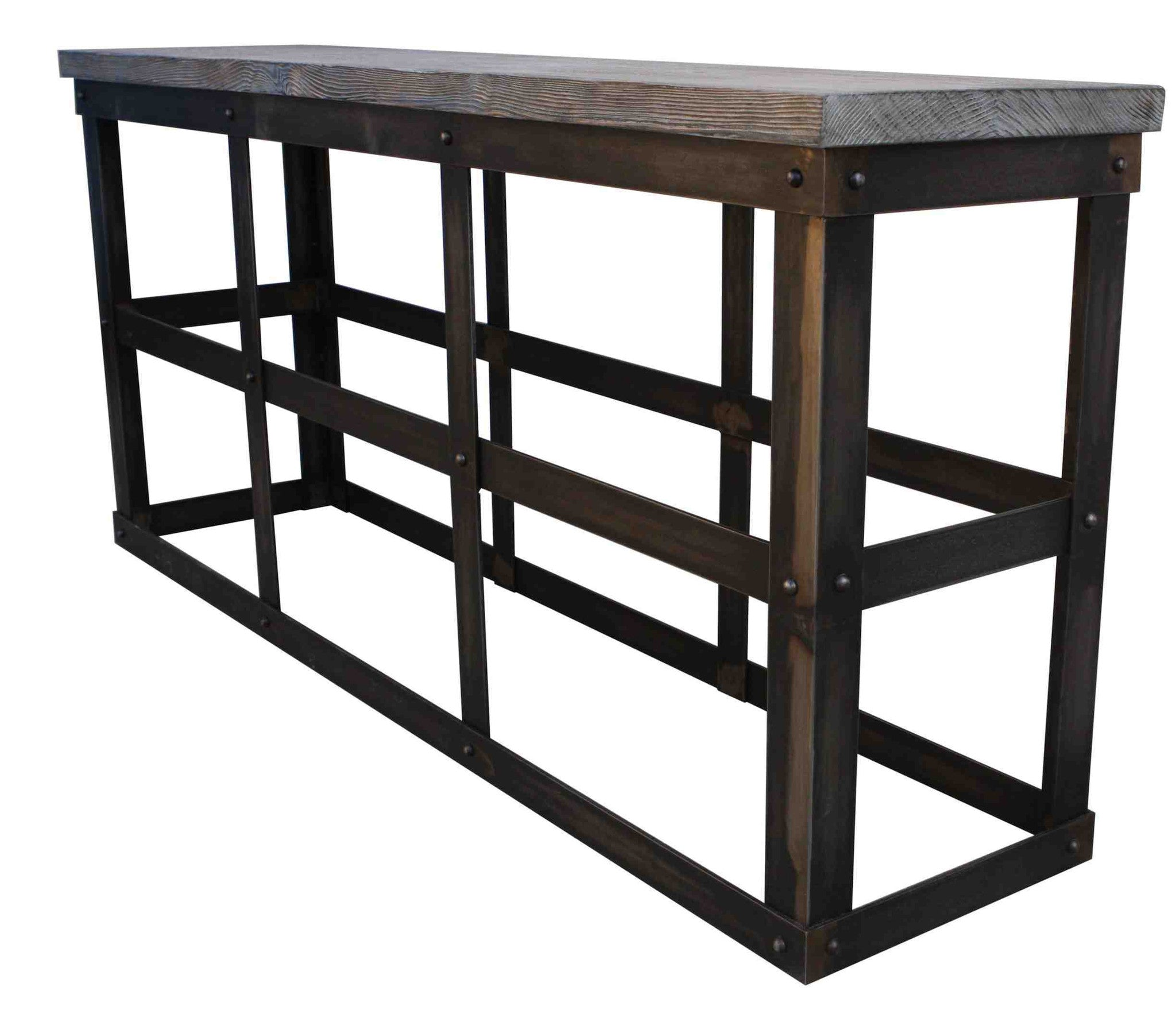 Custom Reclaimed Wood Modern Industrial Bookcase for Living Room