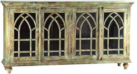 Old World Gothic Paneled Sideboard