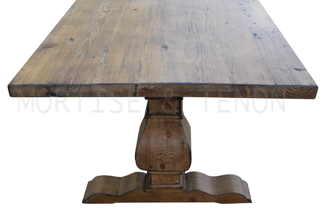 Trestle Dining Room Sets View In Gallery Weathered Trestle Table In A Light And Airy Dining