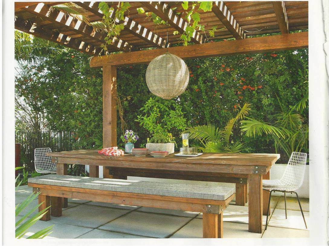 Outdoor Industrial Dining Table and Benches