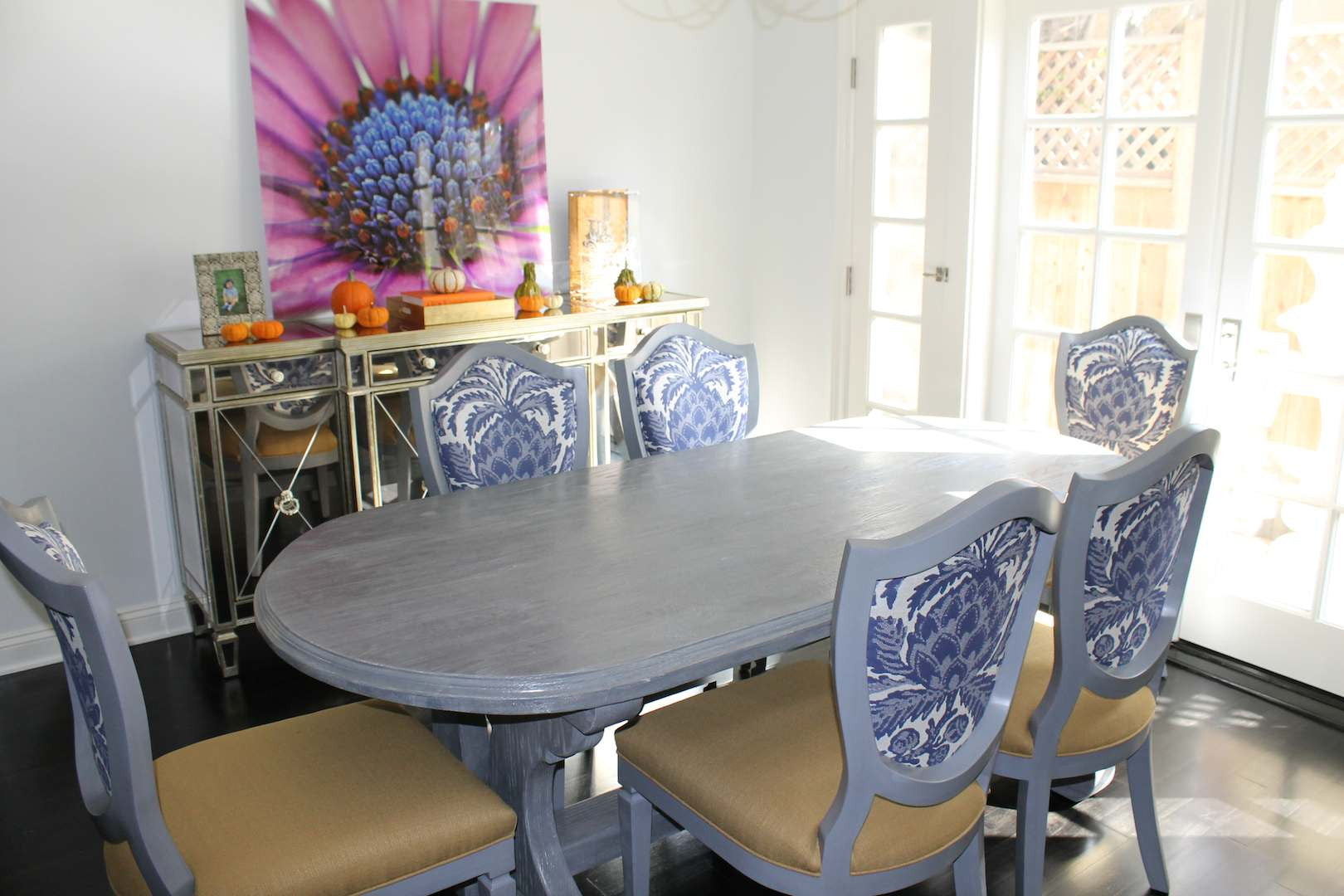 Reclaimed Wood Lourdes Dining Table With Shield Back