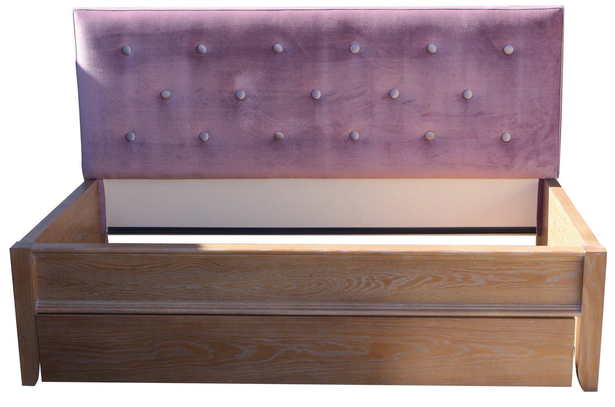 Upholstered Purple Silver Tufted  Day Bed