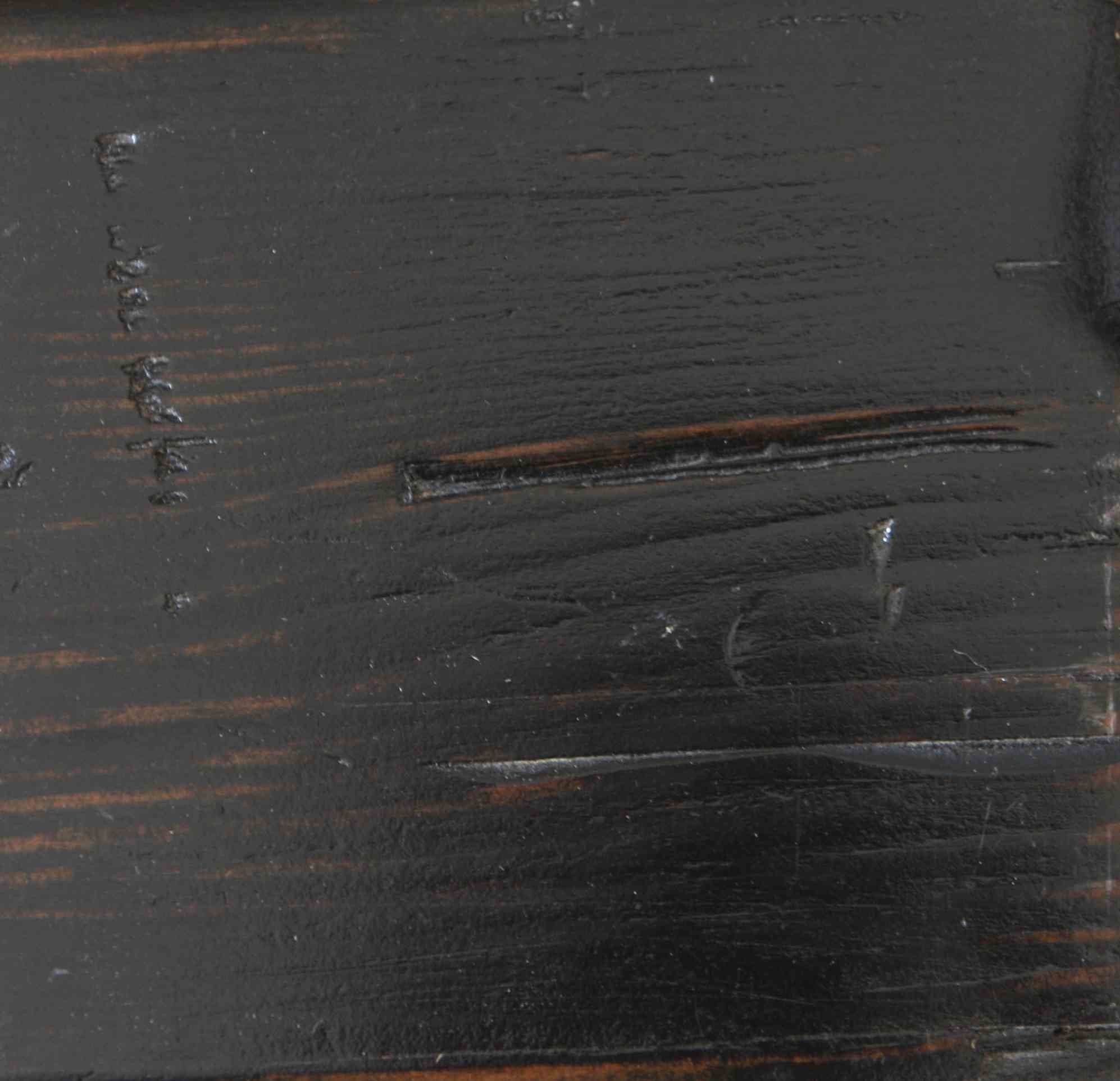 Weathered Black Finish On Reclaimed Wood Mortise Amp Tenon