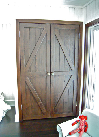Reclaimed Wood Closet Barn Doors