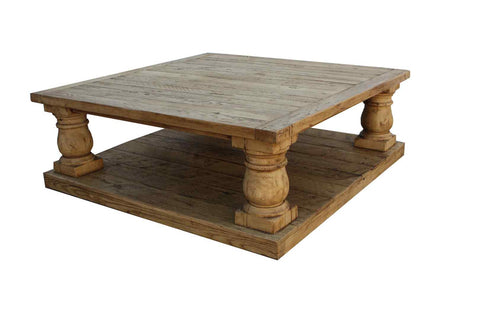 Postobello Coffee Table Built in Reclaimed Wood