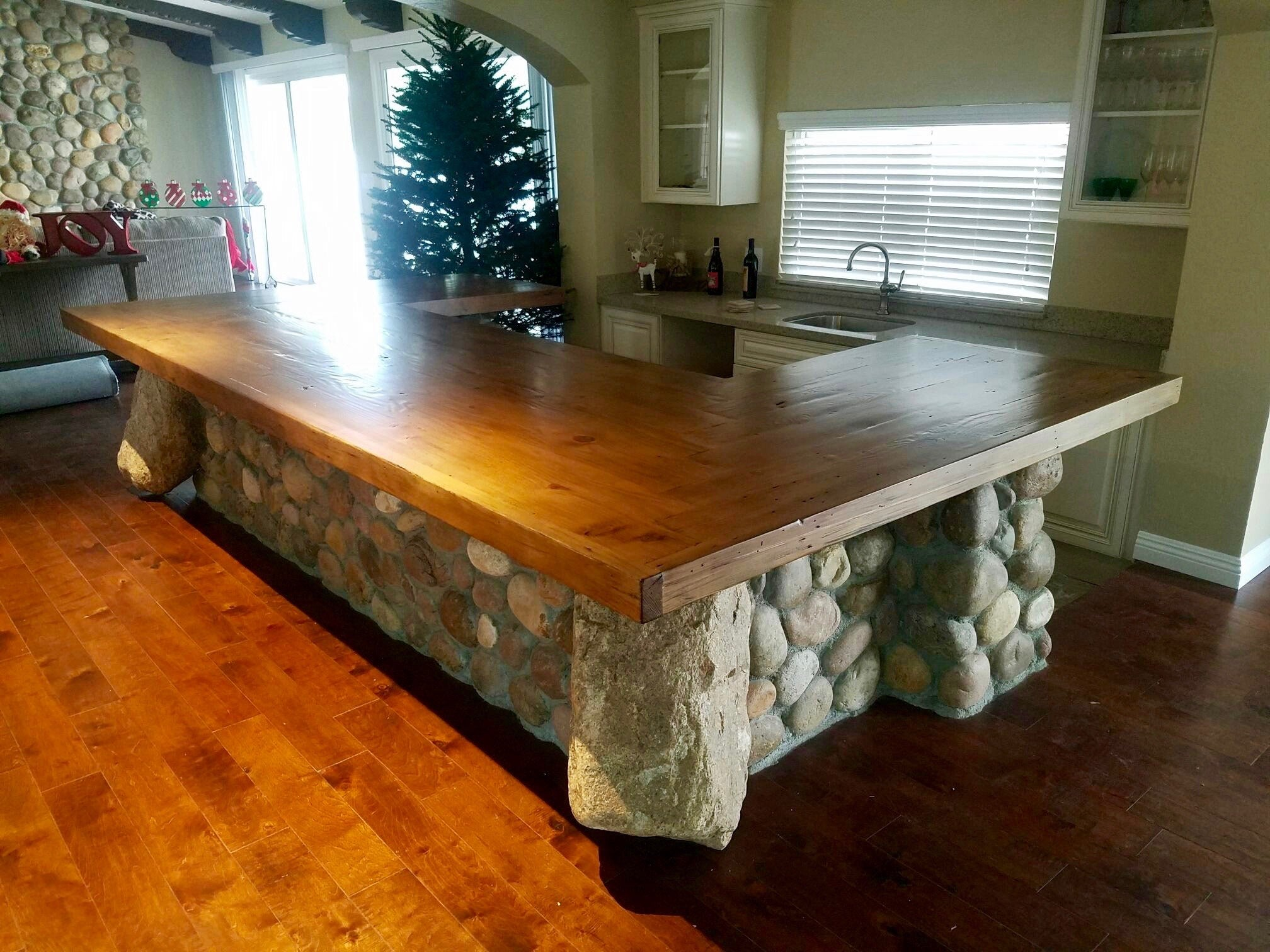 Bar Tops and Kitchen Island Projects – Mortise & Tenon