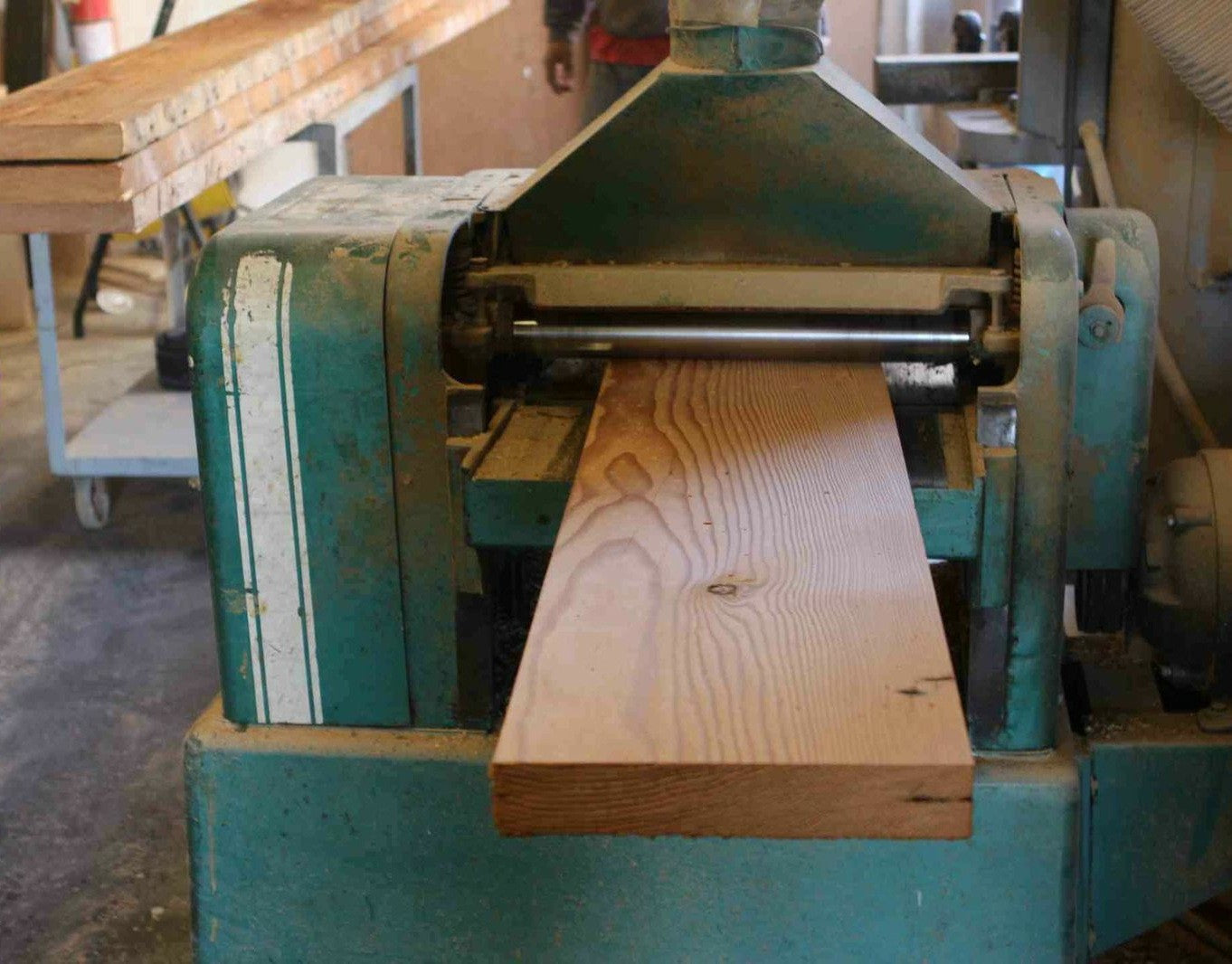 Surfacing Old Douglas Fir With a Wood Planer