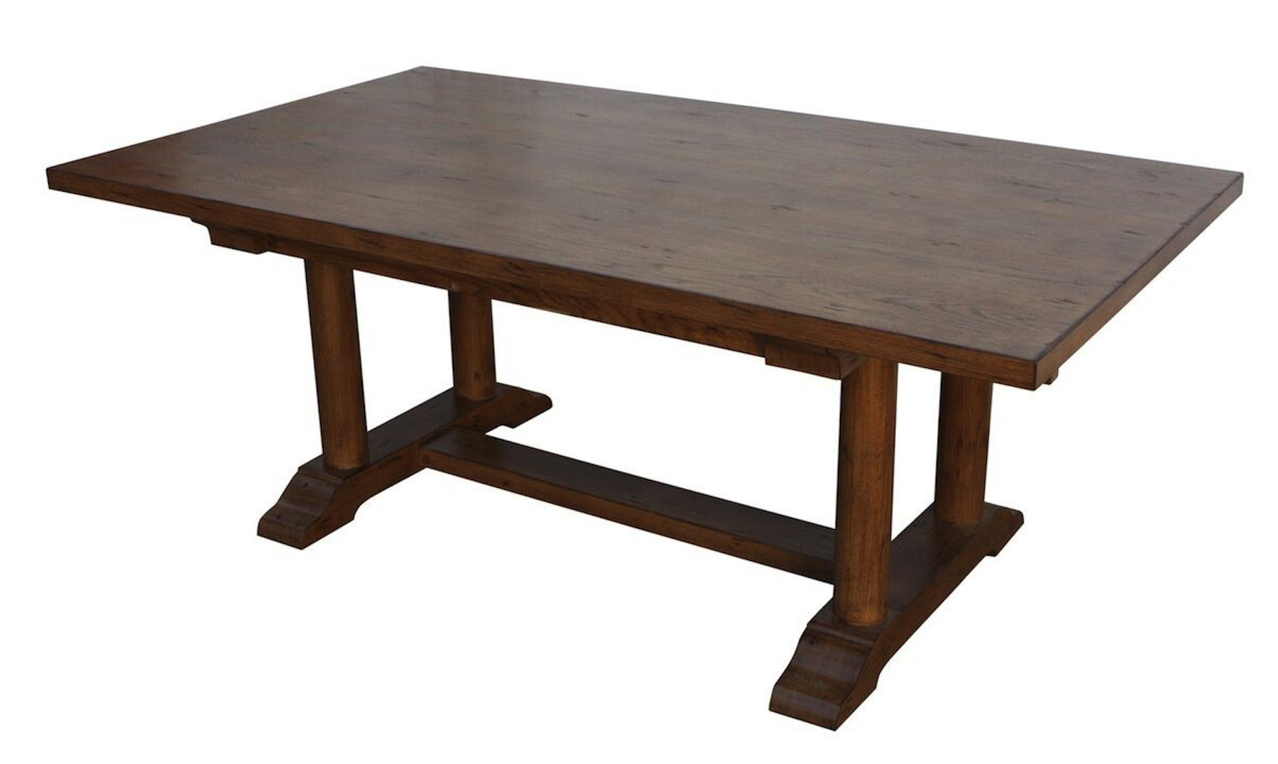 Walnut trestle dining table -  Cambria Rustic Extension Trestle Dining Table Built In Reclaimed Wood