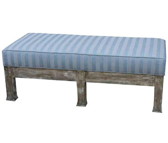 Reclaimed Wood Upholstered Bench