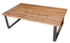 Industrial modern metal and reclamed wood coffee table