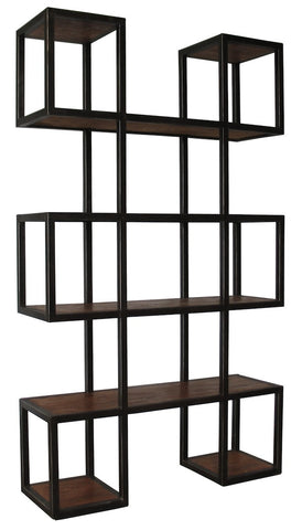 Geometric Metal Modern Bookcase