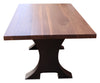 machine industrial handmade dining table walnut