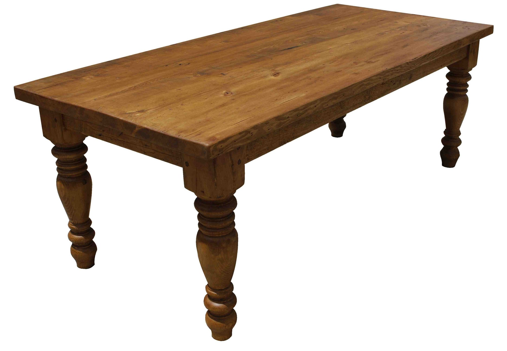 Sienna Reclaimed Wood Turned Leg Dining Table – Mortise & Tenon
