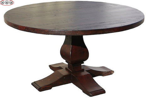 Winston Single Pedestal Dining Table in Reclaimed Wood