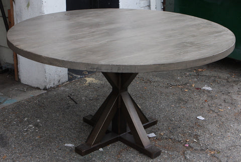 Metal X Base Round Dining Table