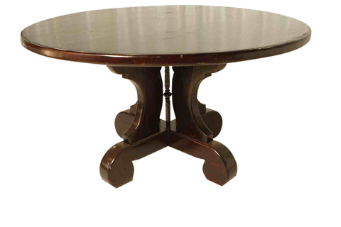 Lourdes Round Dining Table in Reclaimed Wood