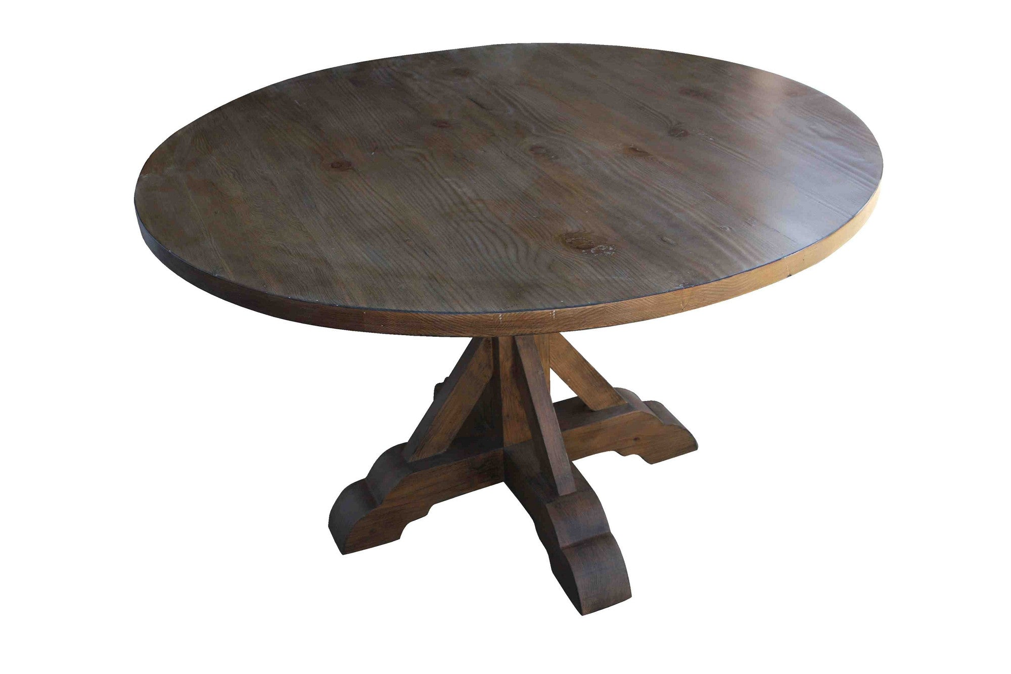 round wood table top round pedestal kitchen table xbase round reclaimed wood dining table