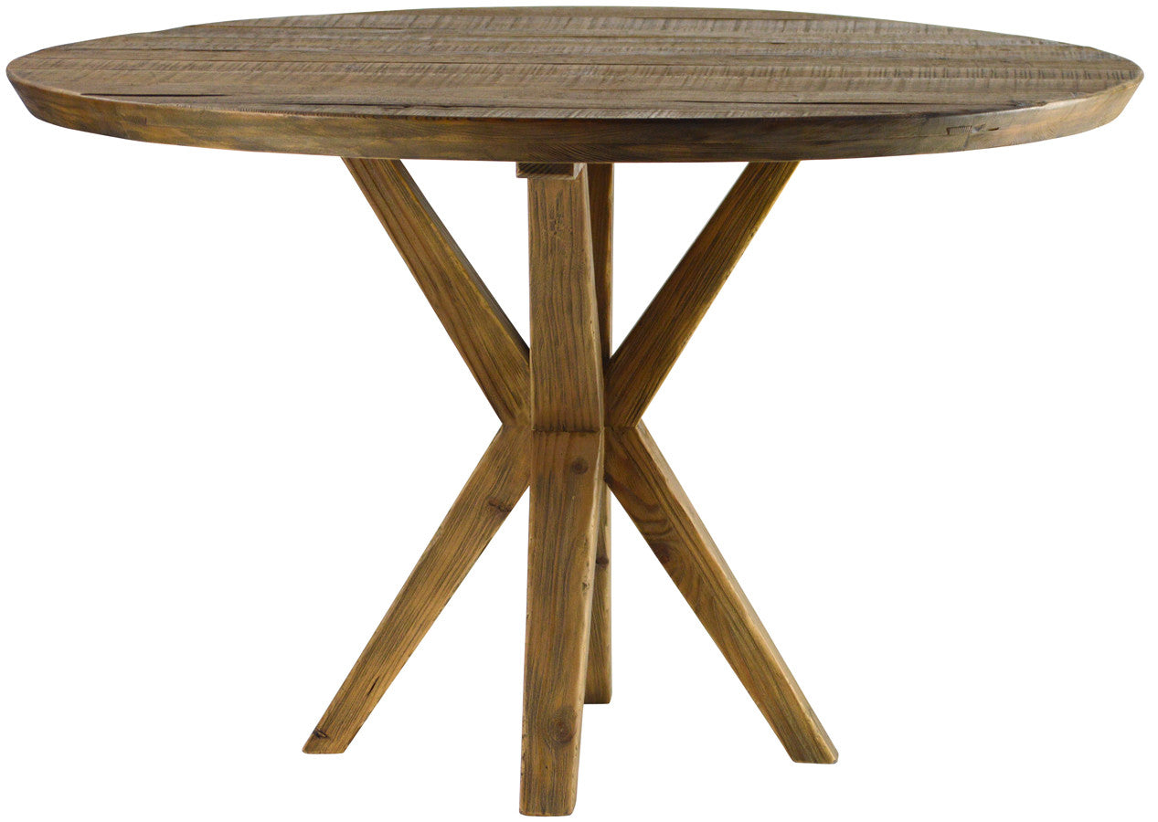 Anabel 48u2033 Walnut Dining Table. . Round 48u201d Concrete And ...