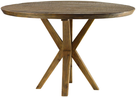 Reclaimed Elm Top Round Dining Table