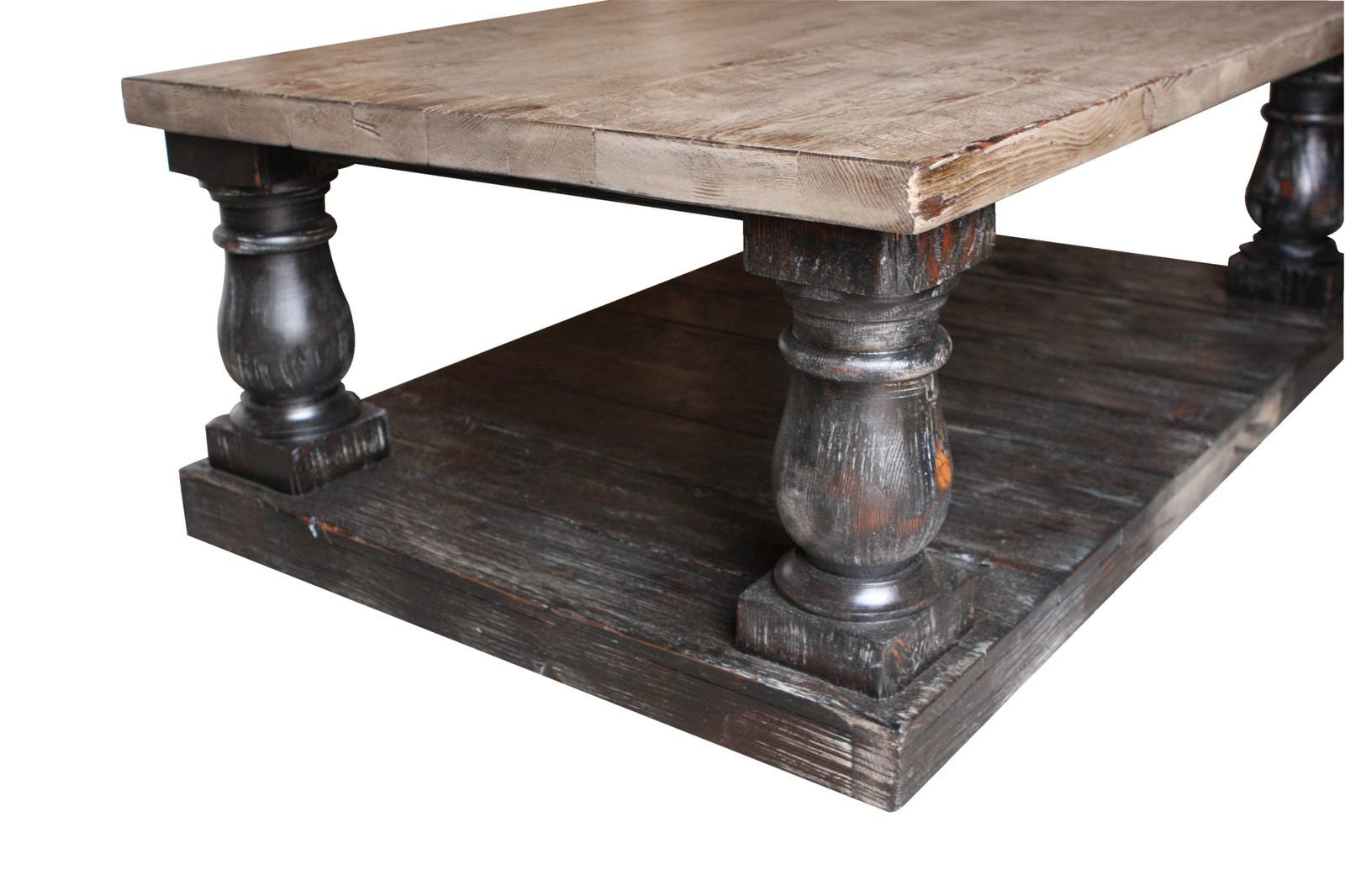 rustic wood coffee table postobello large turned leg coffee table built in 10444