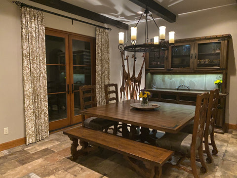 Old World Dining Room and Hutch - Reclaimed wood