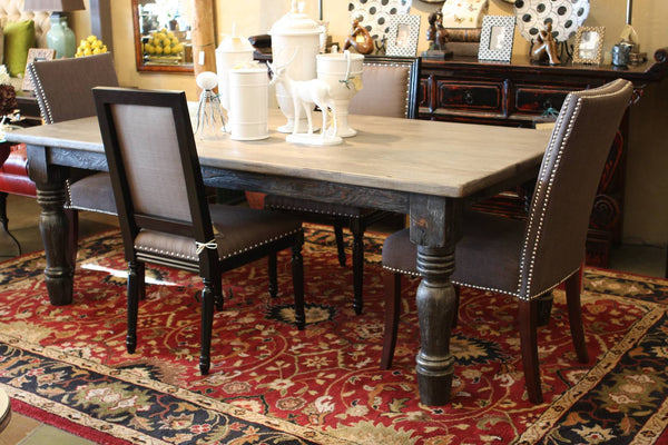 Rockney Dining Table Built In Reclaimed Wood Mortise Amp Tenon