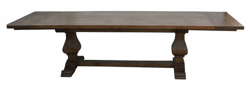 Anaheim Reclaimed Wood Extension Trestle Dining Table