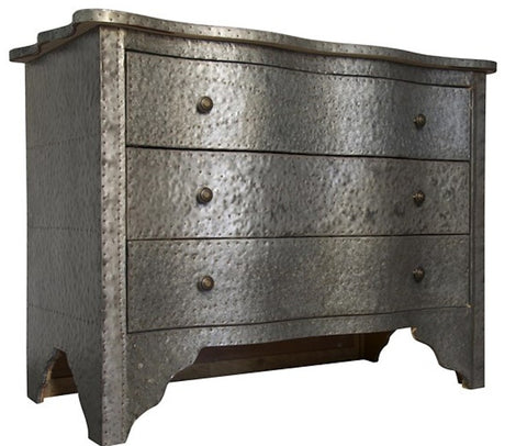 Gina, Small Distressed Zinc Dresser