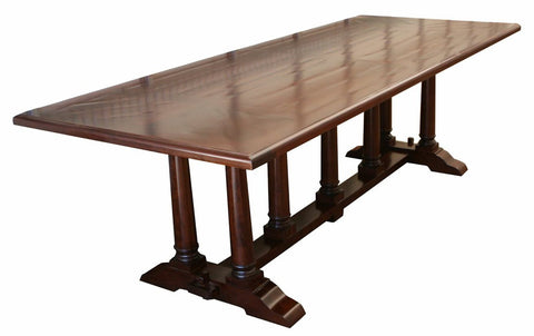 Classic Old World Trestle Dining Table